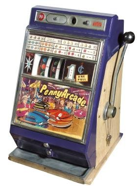 Coin-operated slot machine, Penny Arcade, 1 Cent,