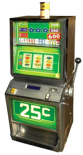Coin-operated slot machine, Bally 25 Cent 3-coin play,