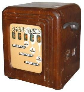 Coin-operated trade stimulator, 'Smoke Reels,'