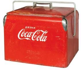 Coca-Cola picnic cooler, from Action Mfg Co.-Arkansas