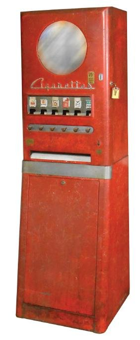 Coin-operated cigarette machine, National, 25 Cent