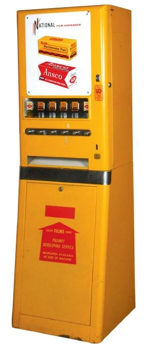 Coin-operated machine, National Film Dispenser, 50 Cent