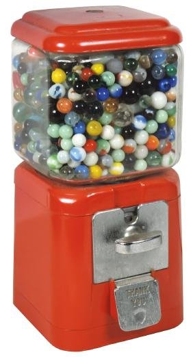 Coin-operated machine, peanut or gumball, Acorn, full