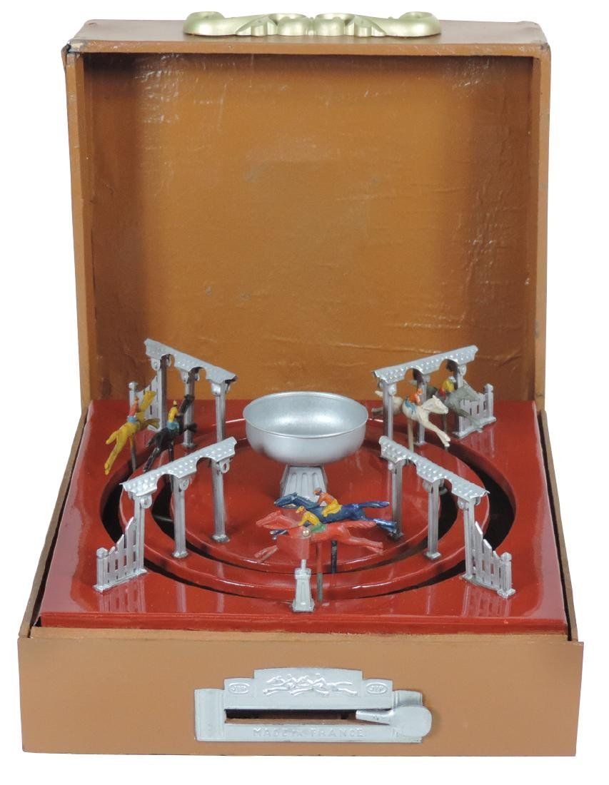 Game, JEP Horse Race boxed table game, circle track