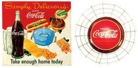Coca-Cola signs (2), Coca-Cola lightup, metal w/wire