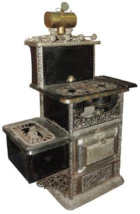 Cook stove, mfgd by The Schneider & Trenkamp