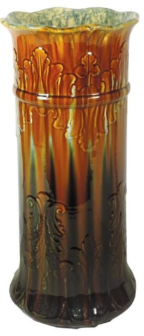 Pottery umbrella stand, Majolica-type, beautiful