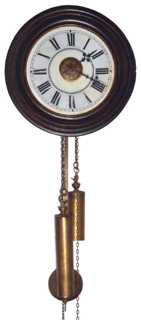 Clock, European weight-driven wall clock, maker
