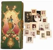 1: Victorian photo album, velvet w/celluloid cover show