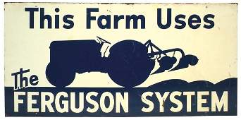 15: Tractor advertising sign, This Farm Uses the Fergus