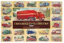 380: Chevrolet Trucks dealer sign, c.1937 to 1942 Chevr