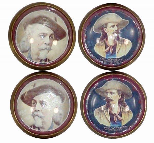 753: Bridle rosettes (2 sets); both Buffalo Bill Cody,