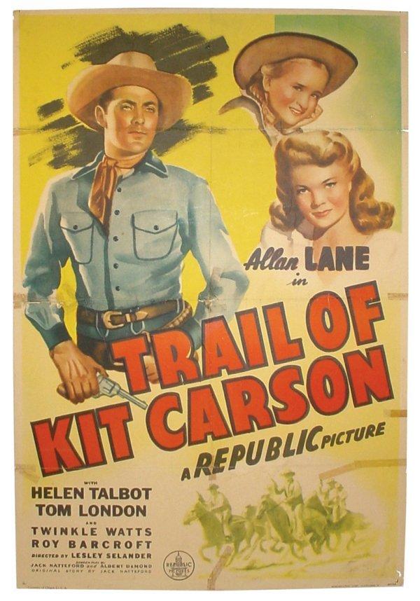 769: Movie poster, Trail of Kit Carson, starring Allan