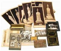 Funeral related items (31 pcs.); Waterloo Casket