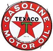 Petroliana sign, Texaco Gasoline & Motor Oil, DSP in