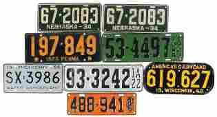 Automotive license plates 8 Nebraska 1934 pair