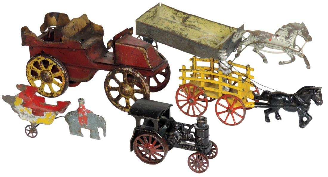 Toys (5), Avery cast iron tractor, cast iron