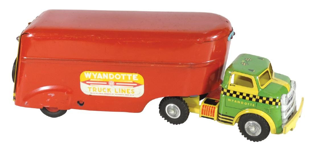 Toy truck & trailer, Wyandotte, mfgd by All Metal