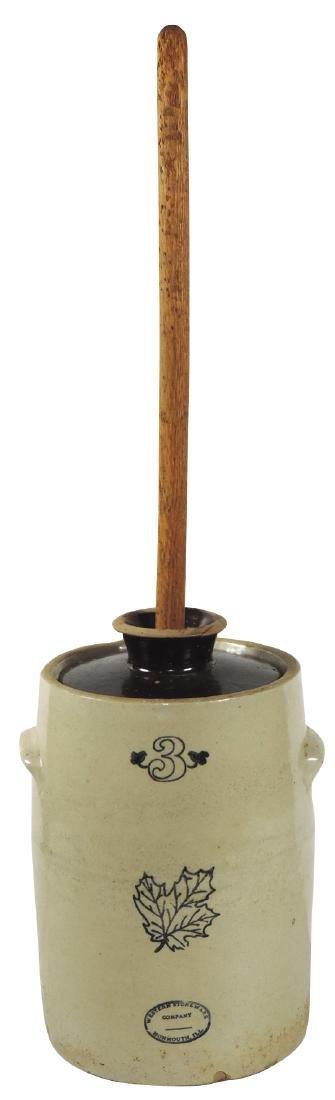 Stoneware butter churn w/lid, Western Stoneware Co.