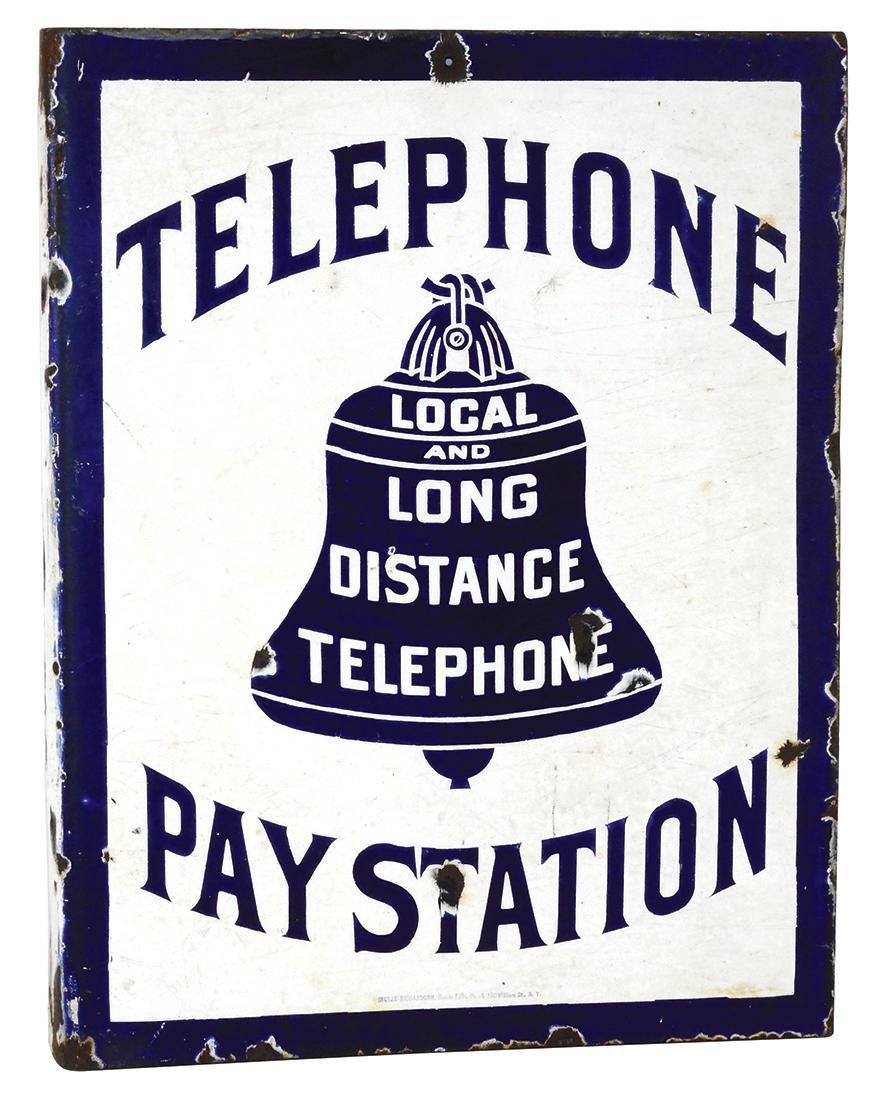 Telephone sign, Bell Telephone Pay Station, Ingram