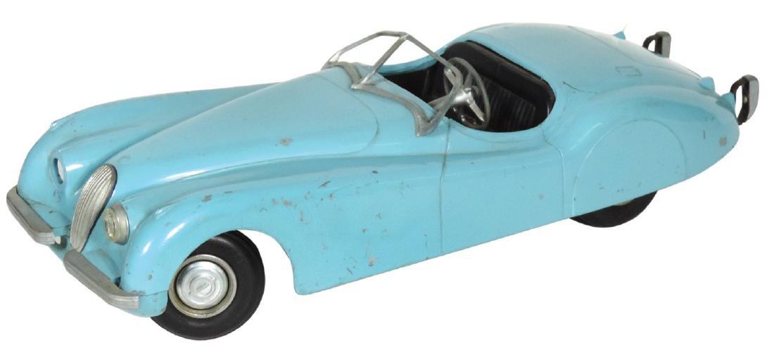 Toy car, Model Toys, 1950's Jaguar, pressed steel