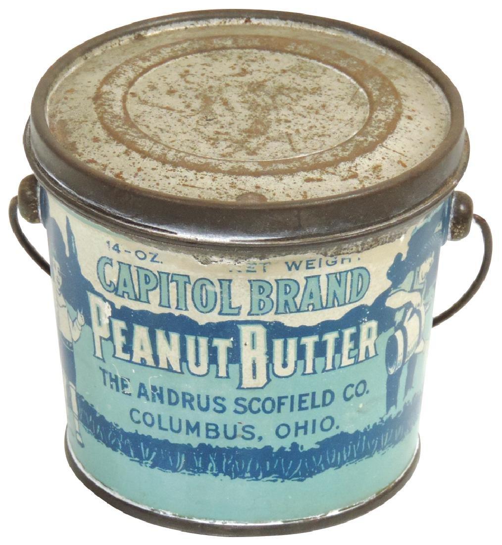 Peanut Butter pail, Capitol Brand 14-oz. tin, VG+/Exc