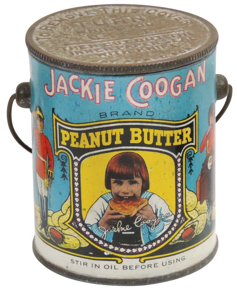 Peanut Butter pail, Jackie Coogan Brand, 12-oz. tin,