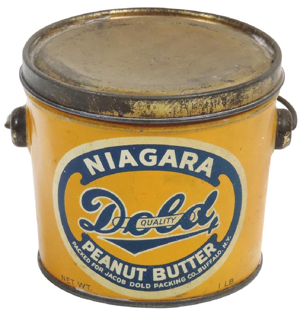 Peanut Butter pail, Niagara Brand 1-lb. tin, Exc cond,