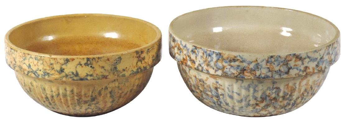 Stoneware advertising bowls (2), Red Wing, South Dakota