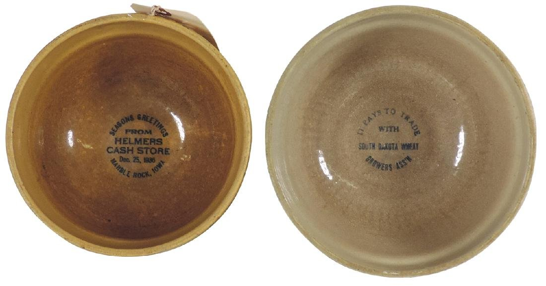Stoneware advertising bowls (2), Red Wing, South Dakota - 2