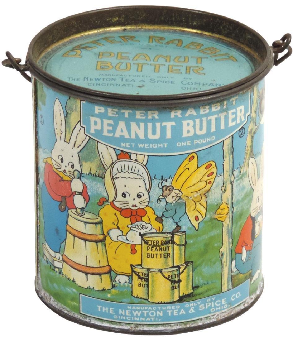 Peanut Butter pail, Peter Rabbit Brand 1-lb. tin, VG+