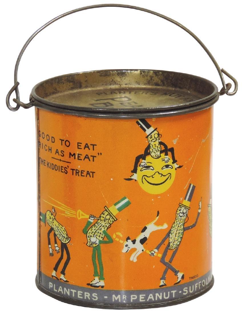 Peanut Butter pail, Planter's Brand 16-oz. tin, VG+