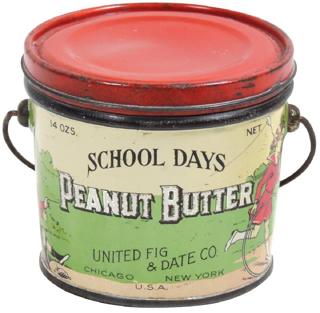 Peanut Butter pail, School Days Brand 14-oz. tin, VG+