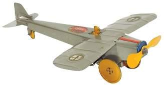 Toy Aeromail plane wpilot Girard Toys tin windup