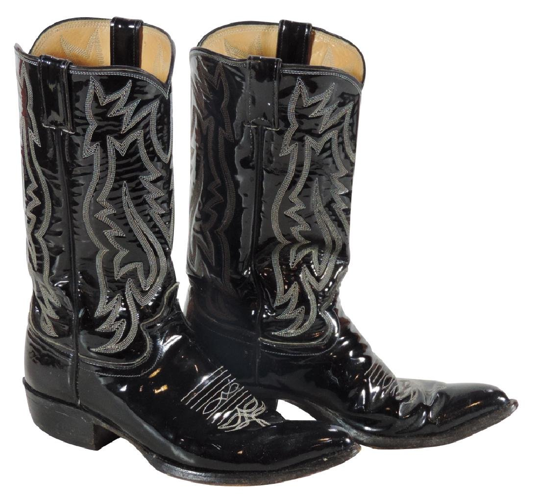Roy Rogers own personal Justin black cowboy boots,
