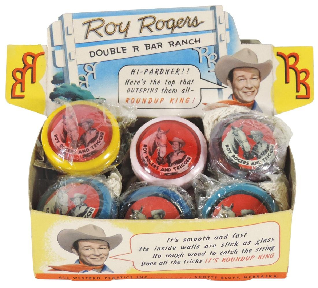 Roy Rogers Roundup King Yo-Yo's in orig packaging &