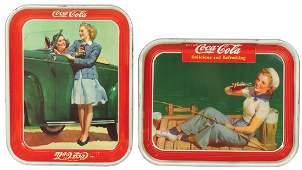 CocaCola serving trays 2 1940 Sailor Girl  1942