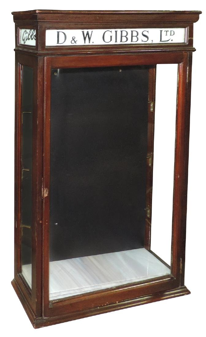 Drug store hanging display cabinet,  D & W. Gibbs,