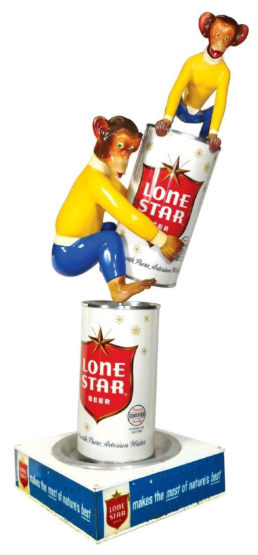 Breweriana store display, Rare Paul Stanley Lone Star