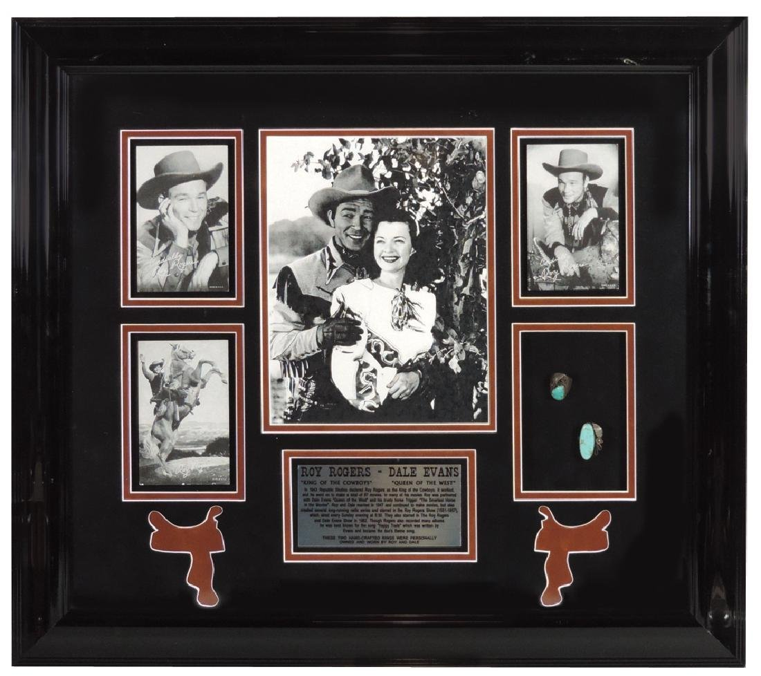 Roy Rogers & Dale Evans framed photos w/turquoise &