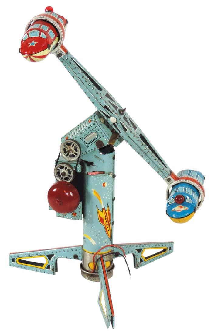 Toy, Alps Twirly Whirly Rocket Ride, battery-operated