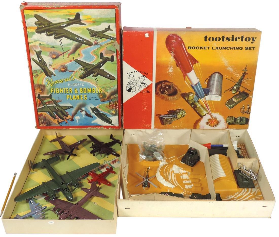 Toys (2), Tootsietoy Rocket Launching set & Renwal