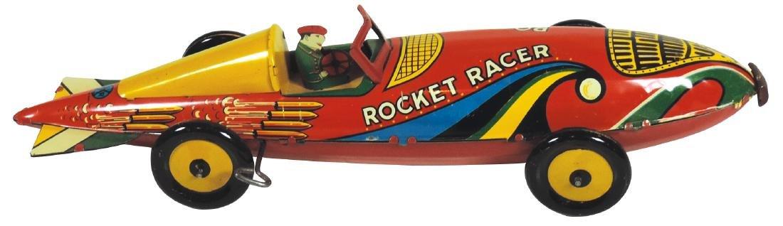 Toy, Rocket Racer, Marx tin windup, Exc wkg cond,