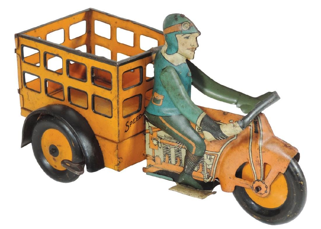 Toy, Speed Boy Delivery vehicle w/open freight box,
