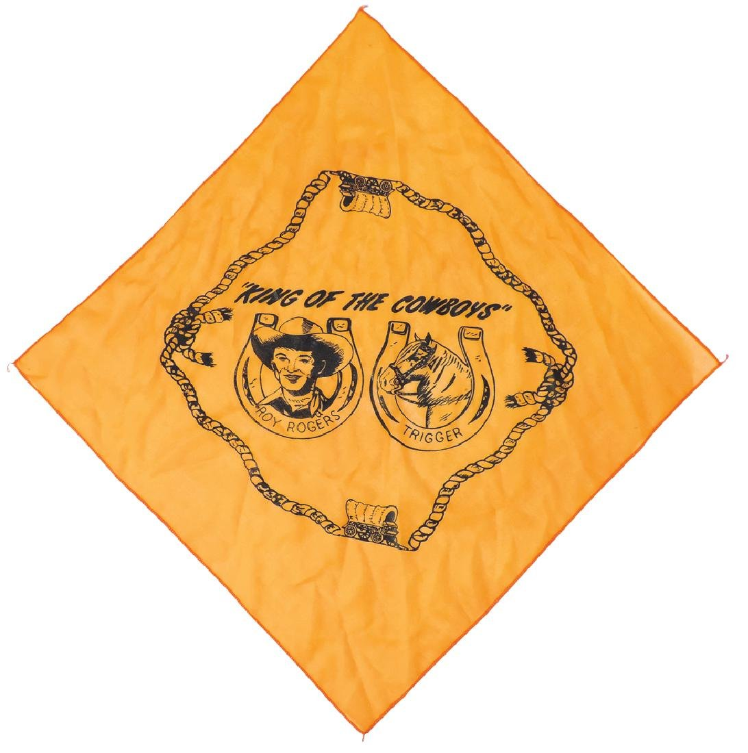 """Roy Rogers & Trigger """"King of the Cowboys"""" orange silk - 2"""