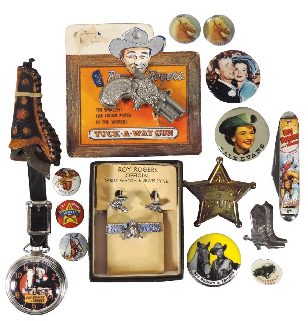 Roy Rogers & Trigger pocket watch w/pistol fob