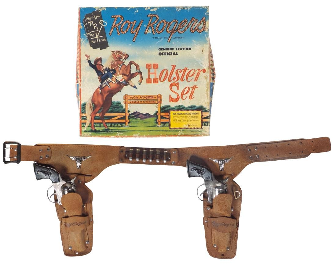 Roy Rogers Holster Set in box, mfgd by Classy Products