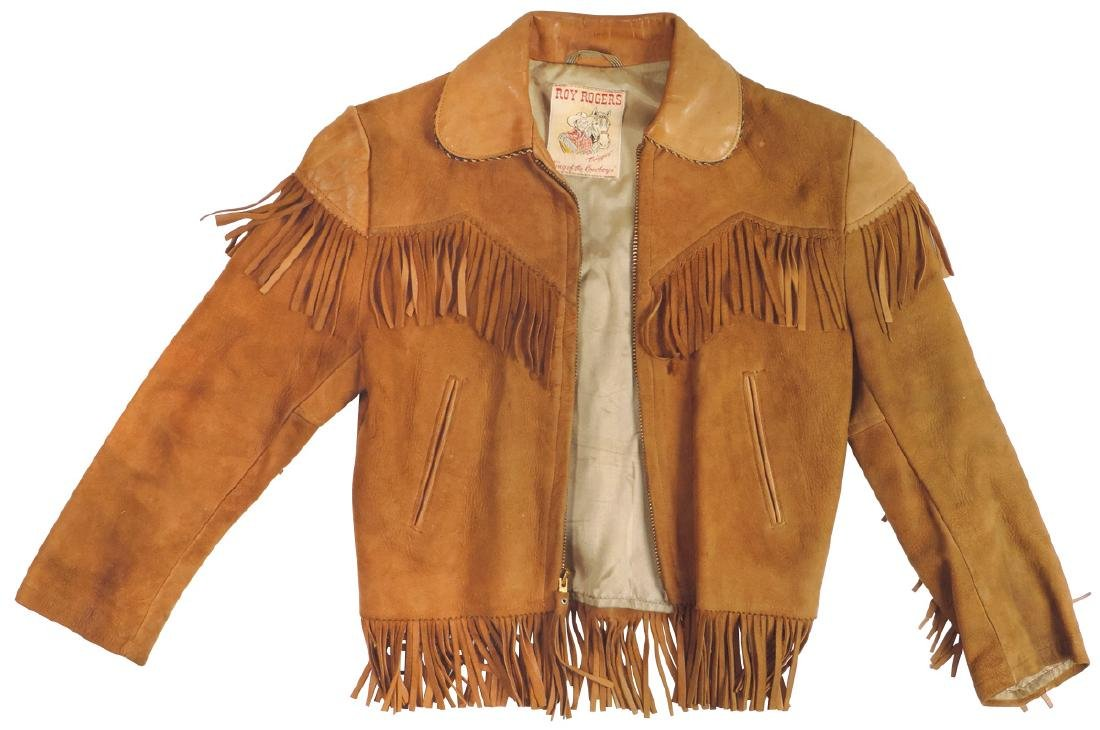 Roy Rogers child's fringed suede jacket w/leather