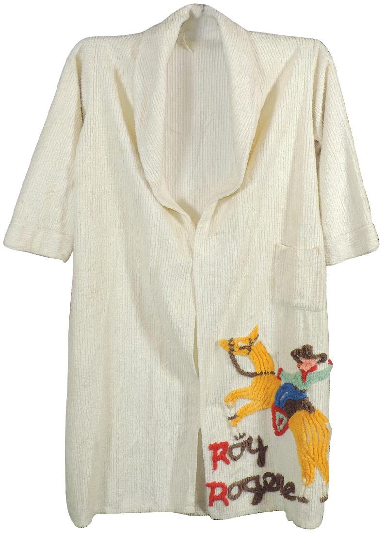 Roy Rogers child's chenille robe, no belt, o/wise Exc - 2