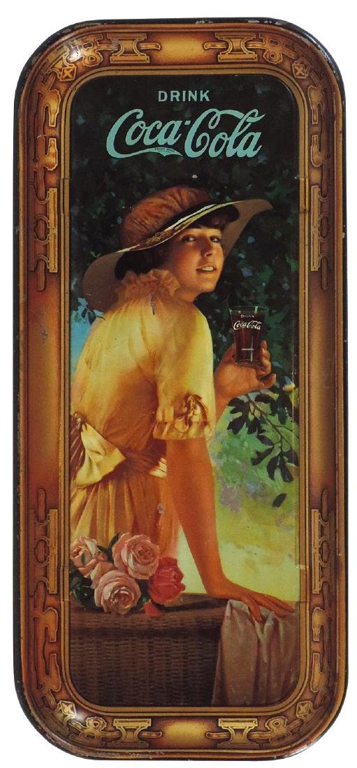 Coca-Cola serving tray, 1916 Elaine, litho on metal,